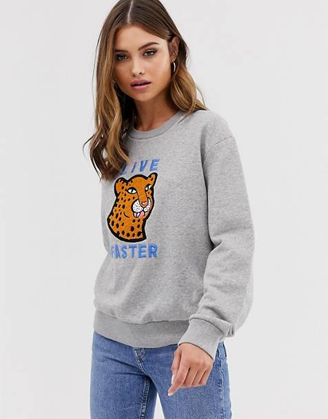 PS Paul Smith cheetah embroidered sweatshirt