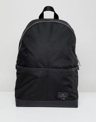 PS Paul Smith - Nylon rugzak in zwart