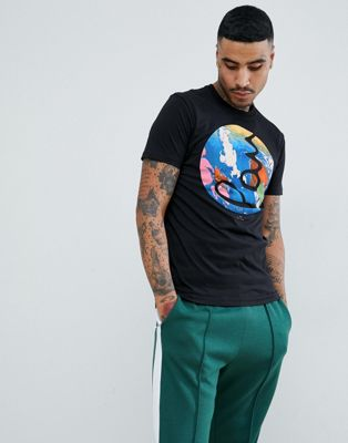 Image 1 of PS Paul Smith slim fit bar logo t-shirt in black