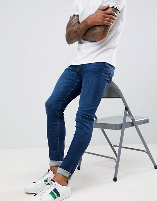 Image 1 of PS Paul Smith slim fit stretch jeans in mid wash