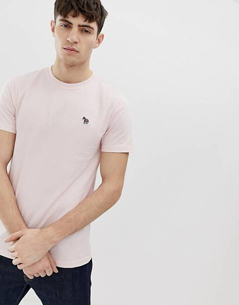 PS Paul Smith slim fit zebra logo t-shirt in pink