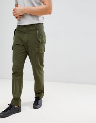 PS Paul Smith straight leg military pants in khaki