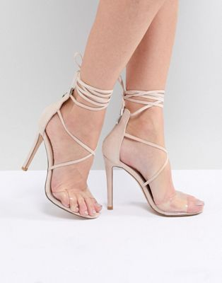 Public Desire Aster Clear Strappy Sandals