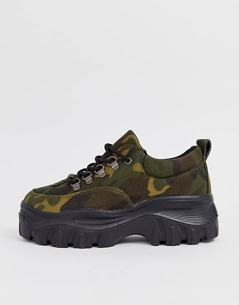 Public Desire Biggie camouflage chunky sneakers