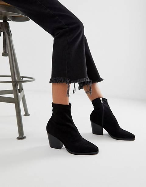 Public Desire Charlie black sock western boots