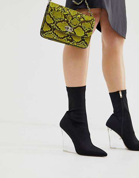 Public Desire Glance clear wedge boots