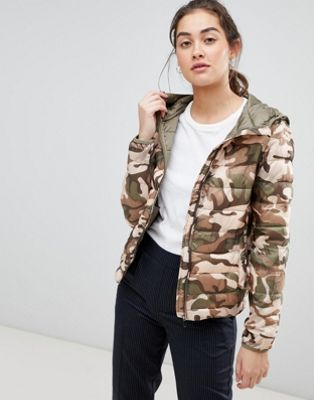 Pull&bear camo printed windbreaker in multi