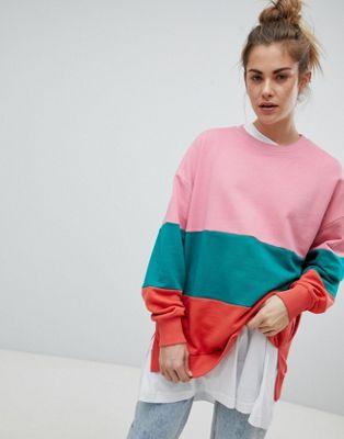 Pull&Bear Colourblock Sweater