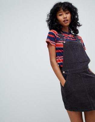 Pull&Bear Cord Dungaree Mini Dress