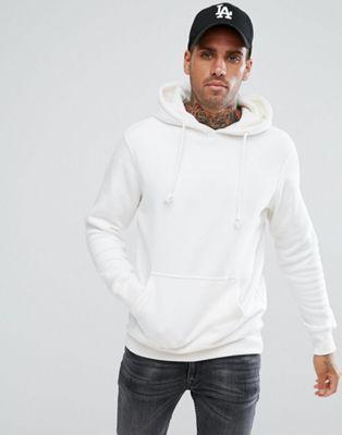 Pull&Bear Hoodie In White