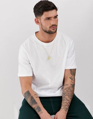 Pull&Amp;Bear Join Life Organic Cotton T Shirt In White by Pull&Bear