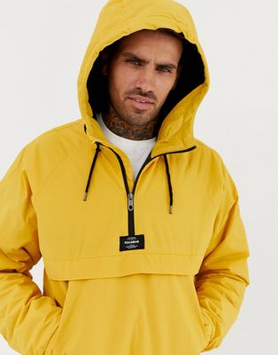 Pull&Bear overhead padded jacket in yellow