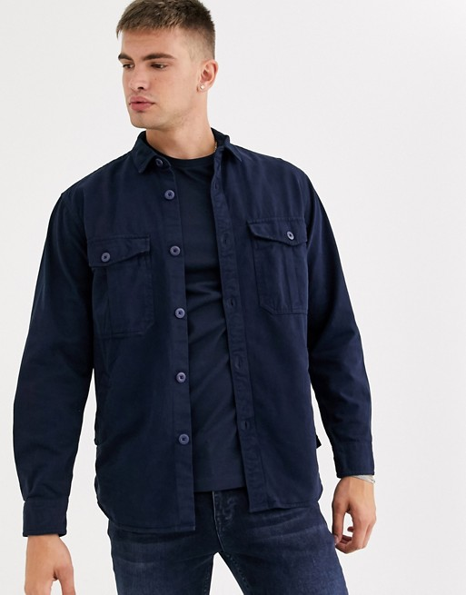 pull&bear-overshirt-with-front-pockets-in-navy by pull&bear