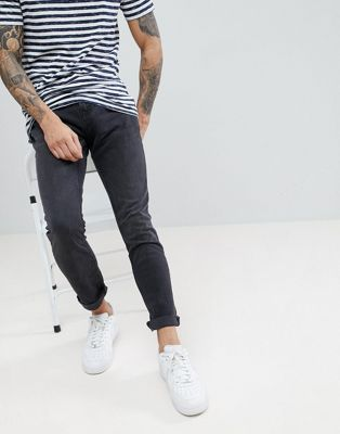 Pull&Bear Slim Fit Jeans In Black