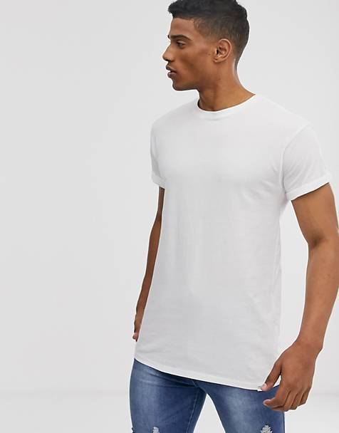 Pull&Bear SLIM fit t-shirt in white