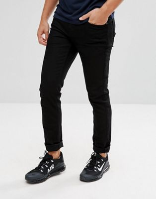Pull&Bear Slim Jeans in Black