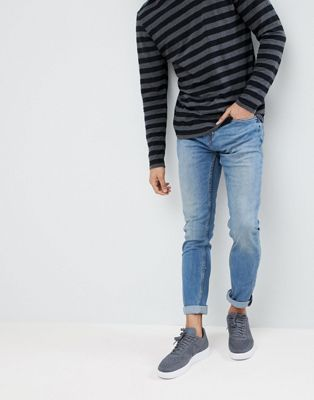 Pull&Bear Slim Jeans In Blue
