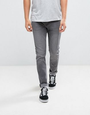 Pull&Bear Slim Jeans In Grey Wash