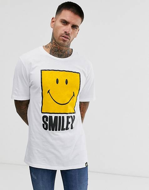 Pull&Bear Smiley t-shirt in white