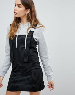 Image 1 of Pull&Bear Stripe Pinafore