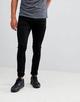 Pull&Bear Super Skinny Jeans In Black