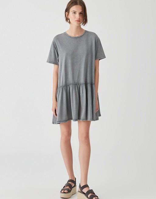 Pull&Bear - Vestito grembiule grigio slavato vJKdFK