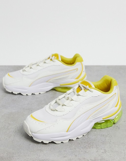 Puma Cell Stellar trainers in white yellow