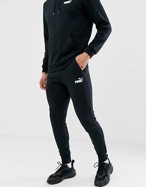Puma – Essentials – Schwarze Jogginghose in enger Passform