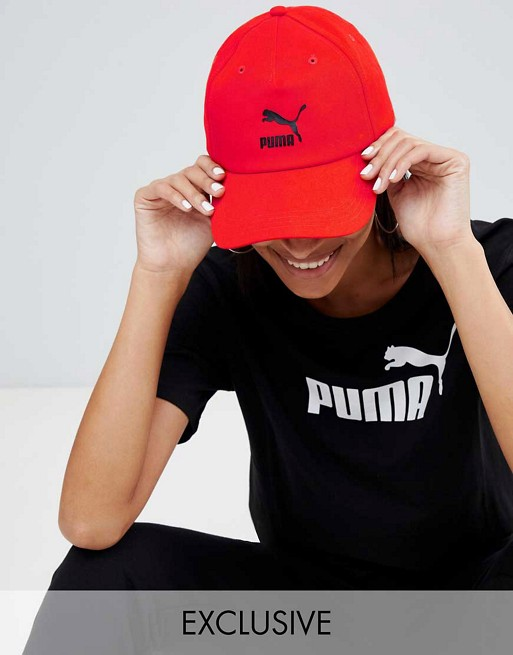 Image 1 of Puma Exclusive Logo Cap With Taping In Red