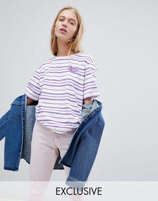 Puma – Exclusive – Randig t-shirt i oversize-modell med 2 toner i ekologisk bomull