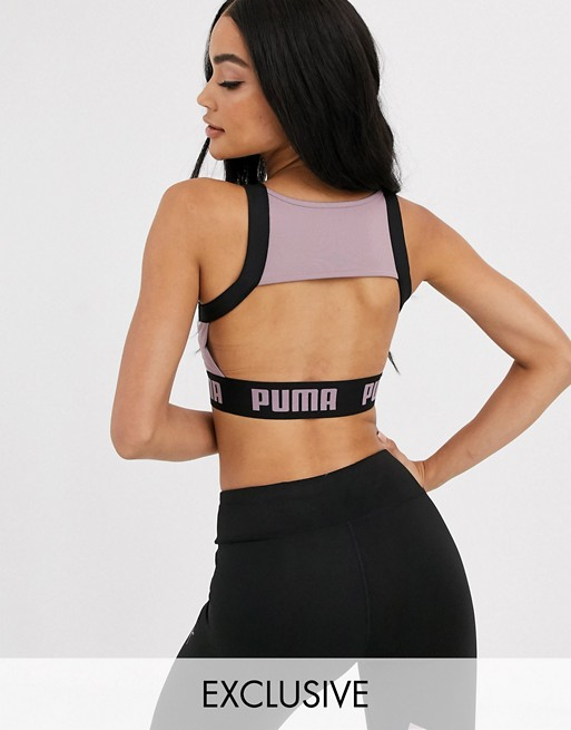 Puma exclusive to ASOS glam bra in purple