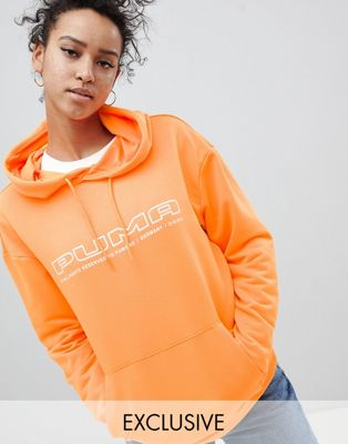 Puma Exclusive To ASOS Hoody In Bright Orange