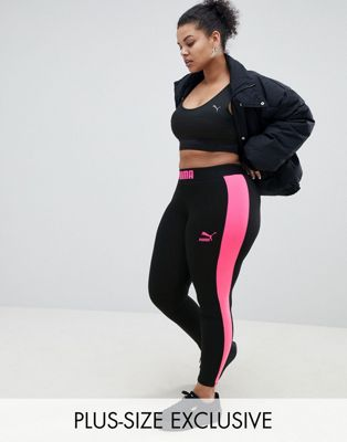 Puma Exclusive To ASOS Plus Legging With Neon Side Panel