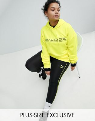 Puma Exclusive To ASOS Plus Stirrup Legging With Neon Piping