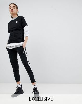 Puma Exclusive To ASOS Taped Side Stripe Track Pants In Black