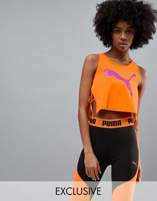 Puma Exclusive To Asos Tie Detail Vest Orange