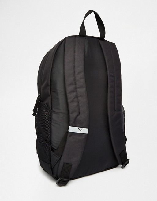 Puma Fundamentals Buzz Backpack In Black 7358101  e6a9aba2e4d3d