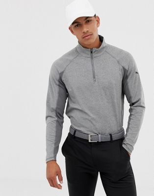 Puma Golf Half Zip Sweat In Gray