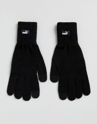 Image 1 of Puma knit gloves in black 04131604
