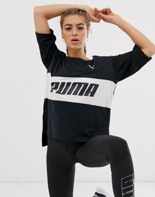 Image 1 of Puma longline logo t-shirt in black