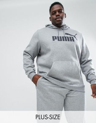 Puma PLUS Essentials pullover hoodie in gray 85174303