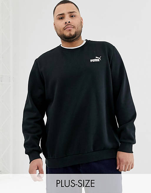 Puma PLUS – Essentials – Svart sweatshirt med liten logga