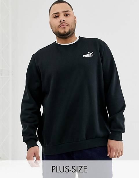 Puma Plus Essentials sweatshirt with small logo in black