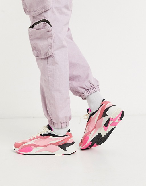 Puma – RS X3 Puzzle – Sneaker in Rosa