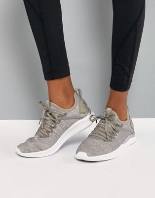 Puma Running Ignite Flash EvoKnit Trainers In sTONE