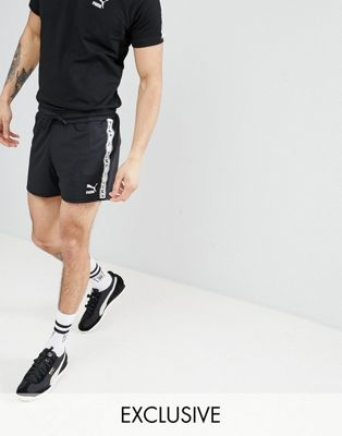 Puma Shorts With Taped Side Stripe In Black Exclusive To ASOS