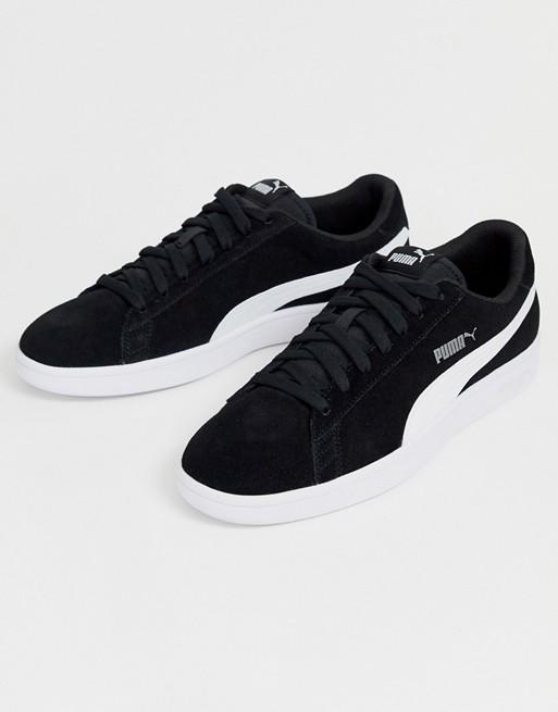 half off e9e4e 8715a Puma smash v2 suede sneakers in black