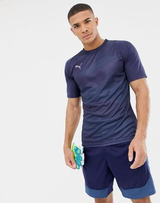 Puma Soccer Graphic T-Shirt In Navy 655781-03