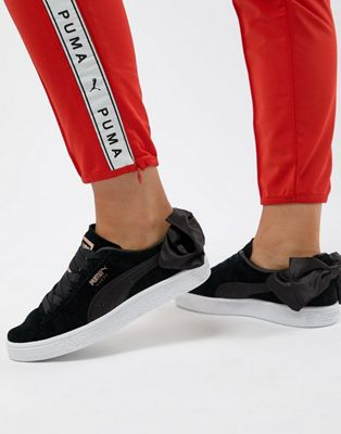 Puma Suede Bow Trainers In Black