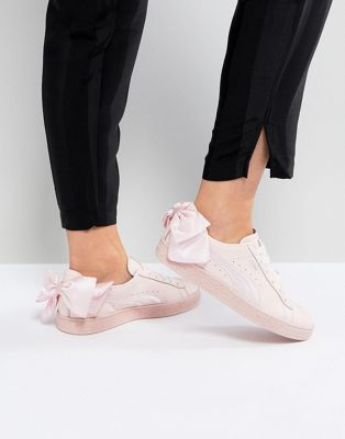 Puma Suede Bow Trainers In Pink